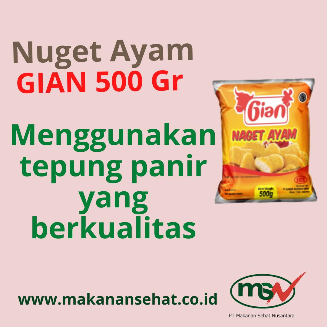 Nugget Ayam Gian 500 Gr menggunakan tepung panir yang berkualitas