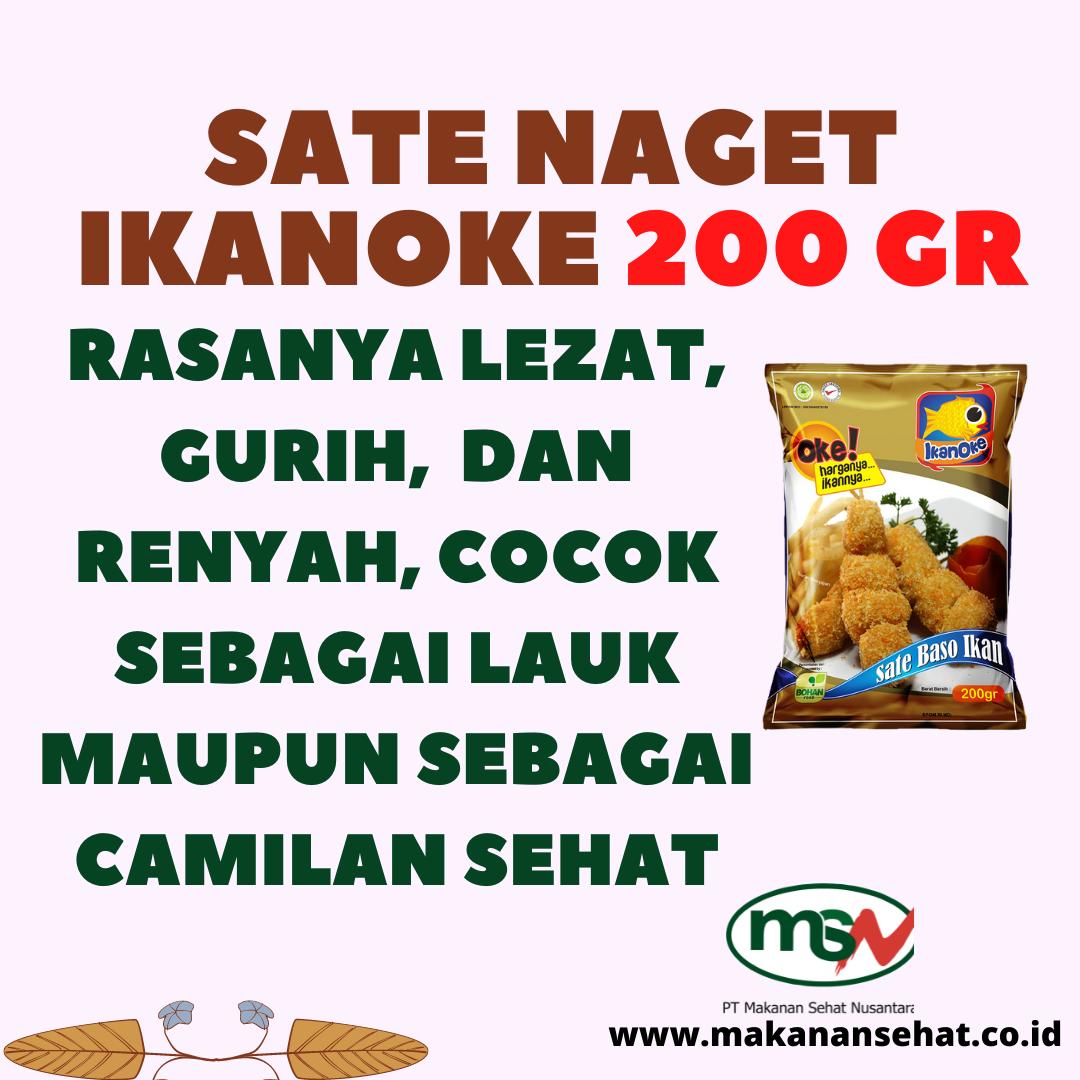 Sate Naget Ikanoke 200 Gr rasanya lezat, gurih, dan renyah, cocok sebagai lauk maupun sebagai camilan sehat