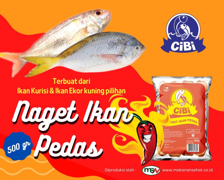 Naget Ikan Pedas Cibi 500 Gr terbuat dari bahan baku ikan laut pilihan seperti ikan kurisi, ikan ekor kuning